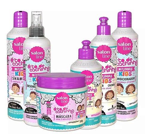 Kit Salon Line kid Molinhas TodeCahinho (06 produtos)