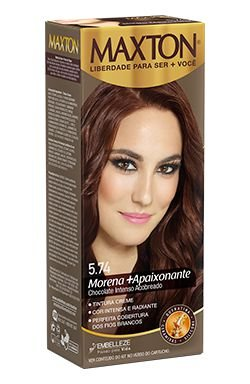 Tintura Maxton Kit 5.74 Chocolate Intenso Acobreado