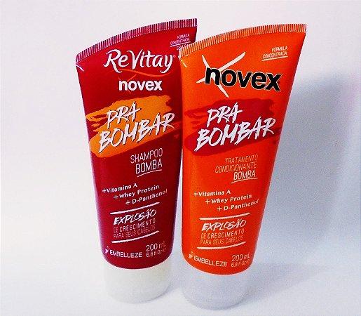 Kit Novex Shampo+Condicionador Pra Bombar 200gr