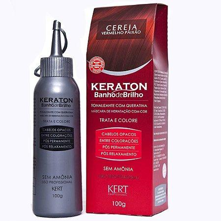 Keraton Banho de Brilho Sem Amonia Cereja -Vermelho Paixão