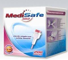 MEDISAFE LANCETA SOLO 23G/2.0MM C/200