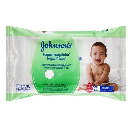 Lenço Umedecido Johnson Baby 48un Toque Fresqinho