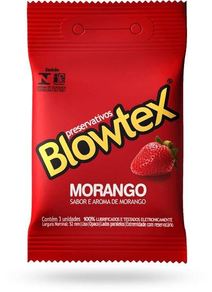 Preservativo Blowtex Morango 3un