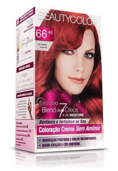 Tintura Beauty Color Sem Amonia 66.46 Vermelho Picante