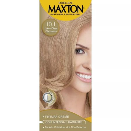 Tintura Maxton Kit 10.01 Louro Claríssimo Cinza Suave