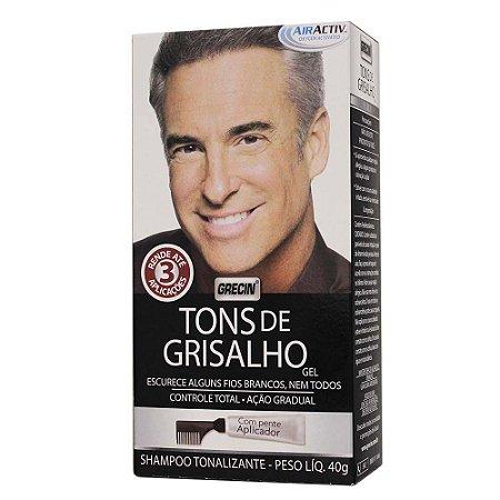 Shampoo Tonalizante em Gel Tons de Grisalho 40g - Grecin