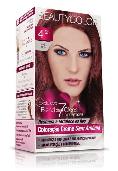 Tintura Beauty Color Sem Amônia 4.65 castanho purpura