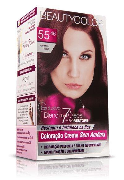 Tintura Beauty Color Sem Amônia 55.46 vermelho fatale