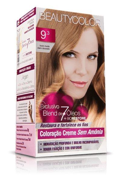 Tintura Beauty Color Sem Amônia 9.3 louro muito claro dour.