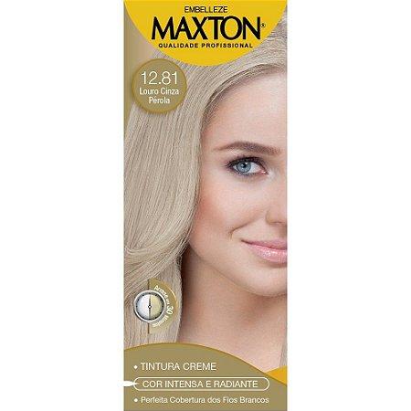 Tintura Maxton Kit 12.81 Louro Cinza Perola