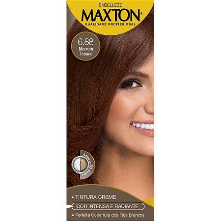 Tintura Maxton Kit 6.88 Marrom Tabaco