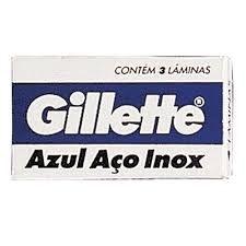 Lamina Gillette Azul Inox c/ 3