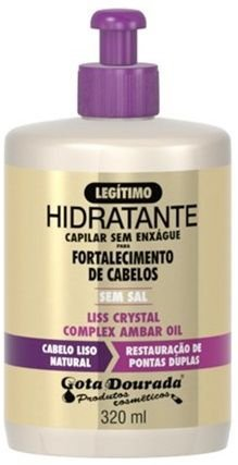 Gota Dourada Creme s/ enxague 320mL Liss Crystal