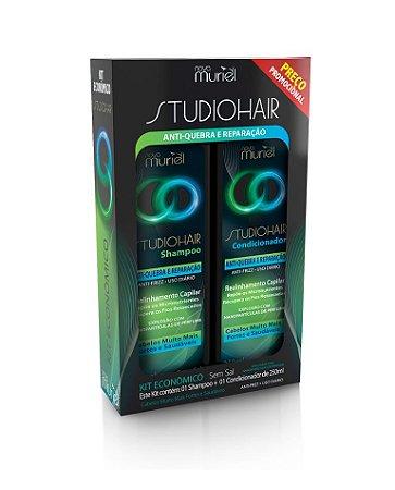 Kit Muriel Studio Hair Sh e Cond Antiquebra Reparação 250ml