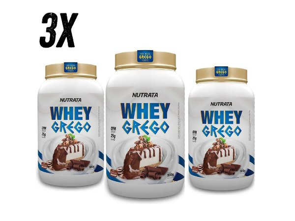 COMBO - 3x WHEY GREGO NUTRATA - 900G