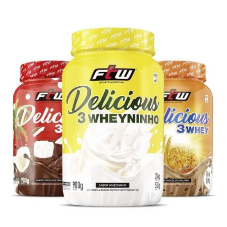 DELICIOUS 3WHEY FTW - 900G