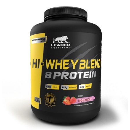HI-WHEY BLEND 8 PROTEIN LEADER NUTRITION - 1,8KG