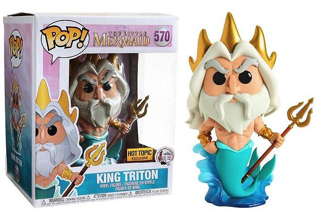 Funko POP Disney Pequena sereia (little mermaid): King Triton #570 Hot Topic Exclusive