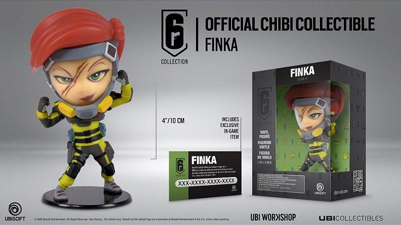 Rainbow Six Siege Chibi Finka 10cm (Produto Oficial)
