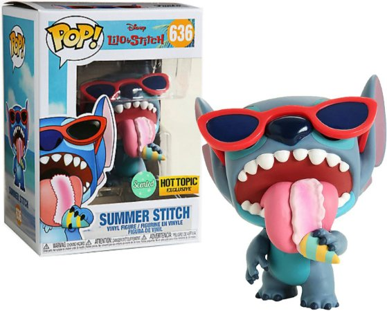 Funko POP Lilo and Stitch: Summer Stitch Scented Hot Topic Exclusive #636