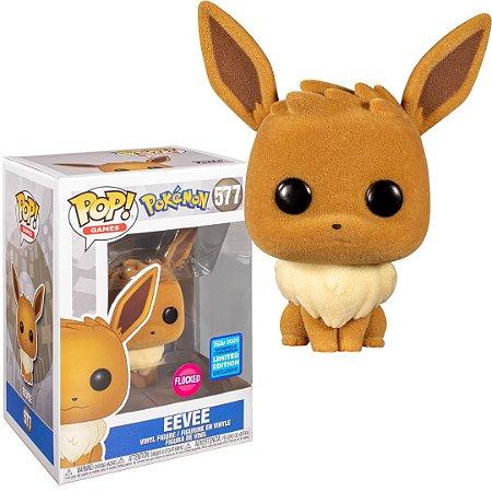 Funko POP Pokemon: Eevee Flocked Wondercon Exclusive #577