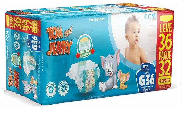 Fralda Descartável Infantil Tom E Jerry-G 36 Unidades
