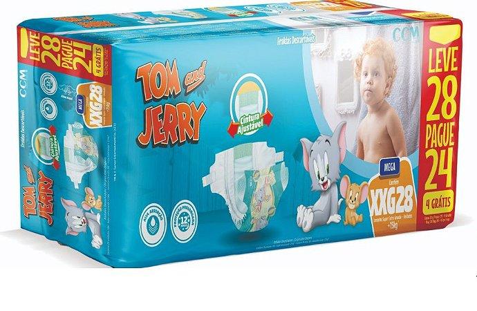 Fralda Descartável Infantil Tom E Jerry- XXG 28 Unidades