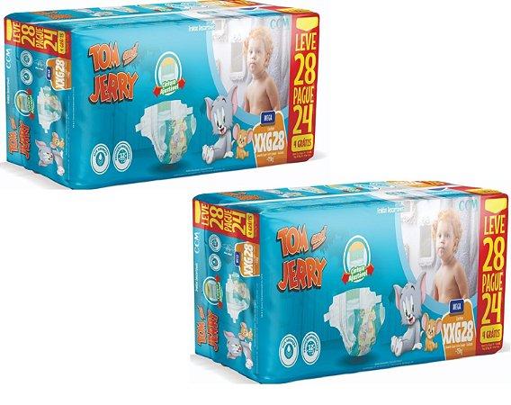 Fralda Descartável Infantil Tom E Jerry- XXG 56 Unidades