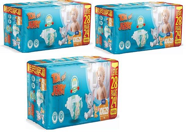 Fralda Descartável Infantil Tom E Jerry- XXG 84 Unidades