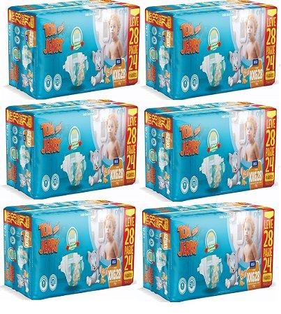 Fralda Descartável Infantil Tom E Jerry- XXG 168 Unidades