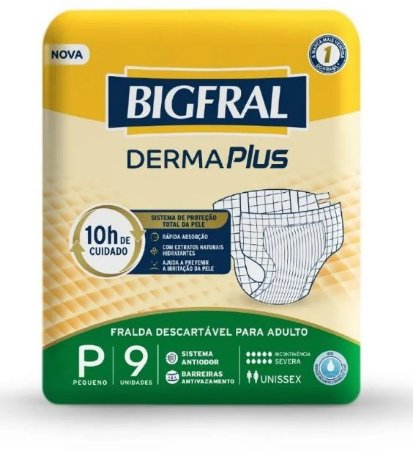 Fralda Geriatrica BigFral DERMA Plus P-9 unidades