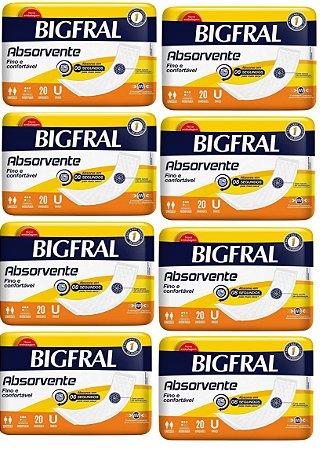 Absorvente Fino e Confortável-BigFral-160 unidades
