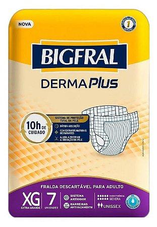 Fralda Geriatrica BigFral DERMA Plus XG-7 unidades