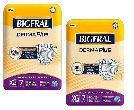 Fralda Geriatrica BigFral DERMA Plus XG-14 unidades