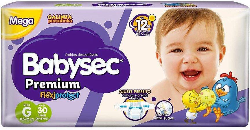 Fralda Babysec Premium Noturna G 30 unidades