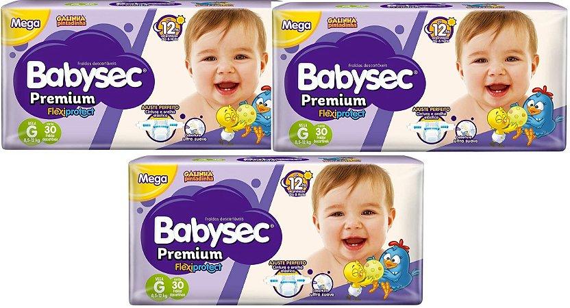Fralda Babysec Premium Noturna G 90 unidades