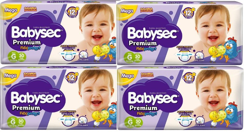 Fralda Babysec Premium Noturna G 120 unidades