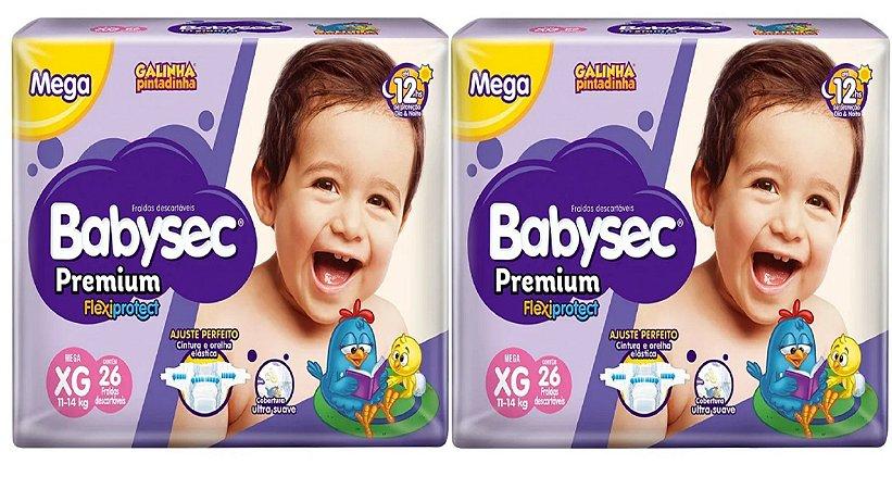 Fralda Babysec Premium Noturna XG 52 unidades