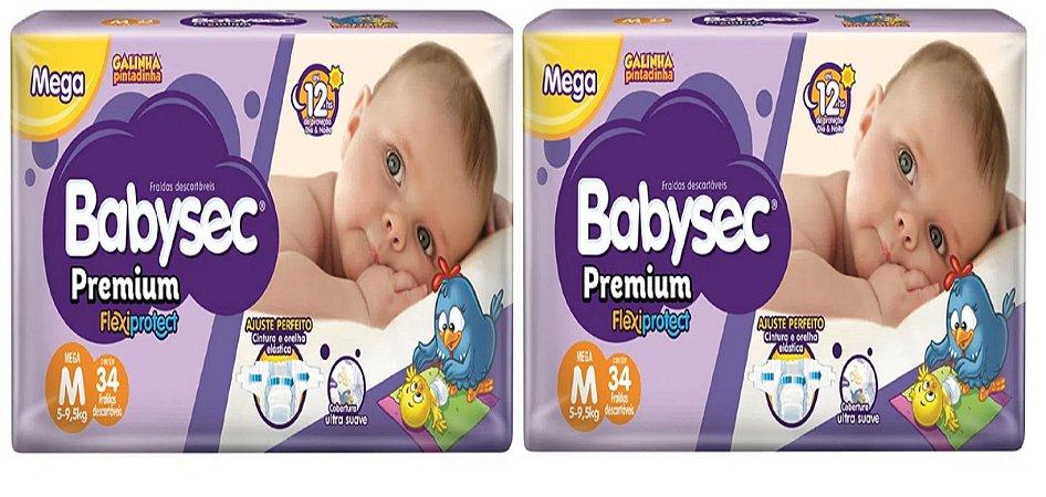 Fralda Babysec Premium Noturna M 68 unidades