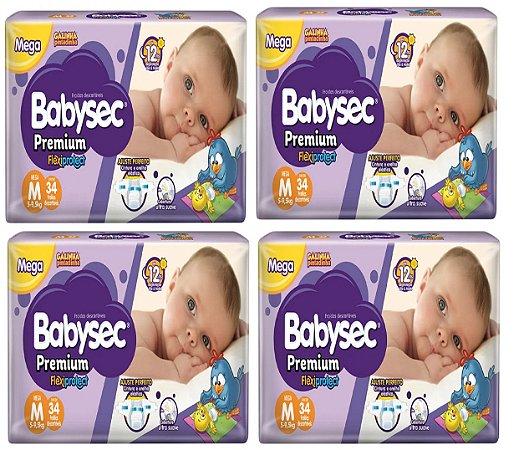 Fralda Babysec Premium Noturna M 136 unidades