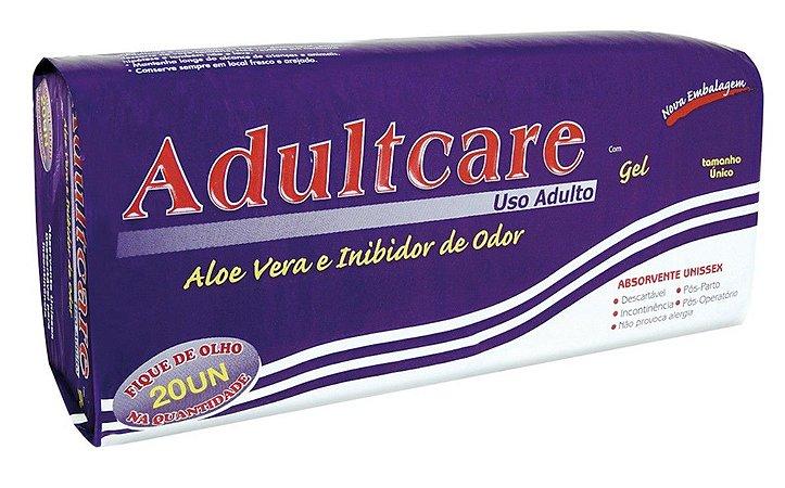 Absorvente Adulto Adultcare Plus Unissex - Tamanho Unico - 20 unidades.