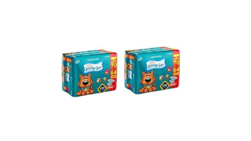 Fraldas Descartáveis Infantil Scooby-Doo-M-140 unidades