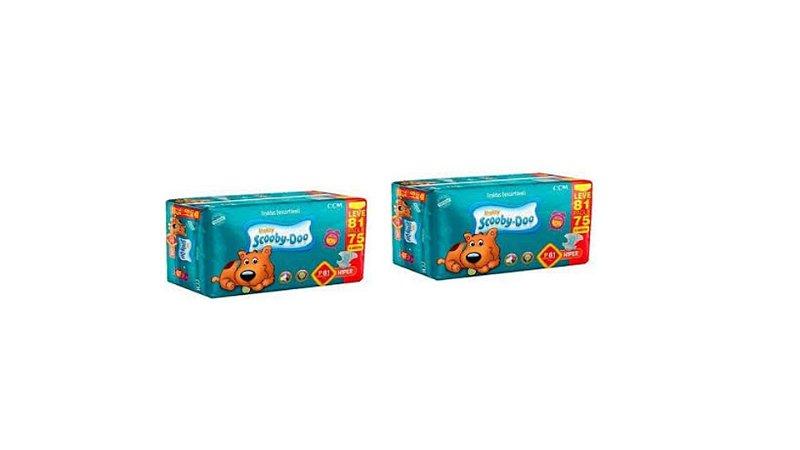 Fraldas Descartáveis Infantil Scooby-Doo-P 162 unidades