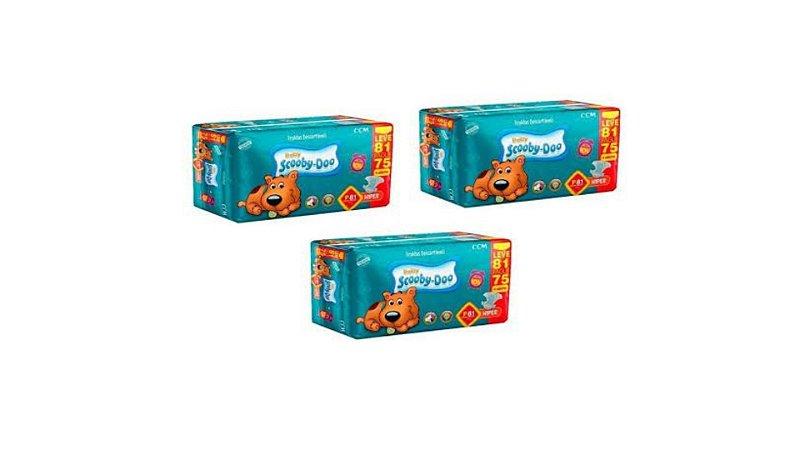 Fraldas Descartáveis Infantil Scooby-Doo-P 243 unidades