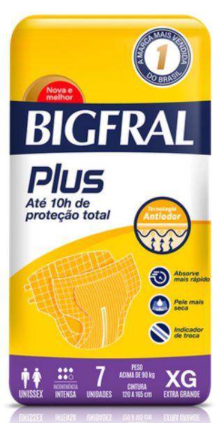 Fralda Geriatrica BigFral Plus XG-7 unidades