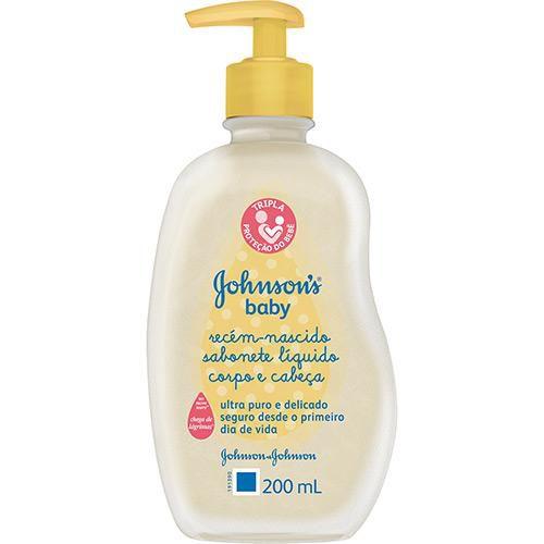 JOHNSON'S® Baby Sabonete Líquido Recém-Nascido - 200ml