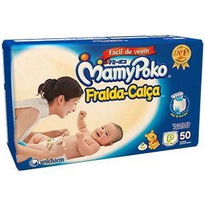 Fralda-Calça Infantil MamyPoko P 50 unid