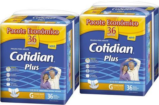 Fralda Geriatrica Cotidian Plus G 72 unid