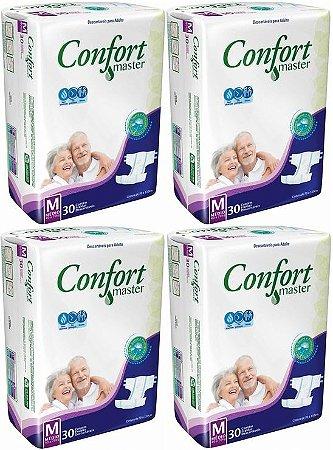 Fralda Geriatrica Confort Master M kit 120 unid