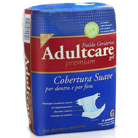 Fralda Geriatrica Adultcare Premium - G - 8 unidades